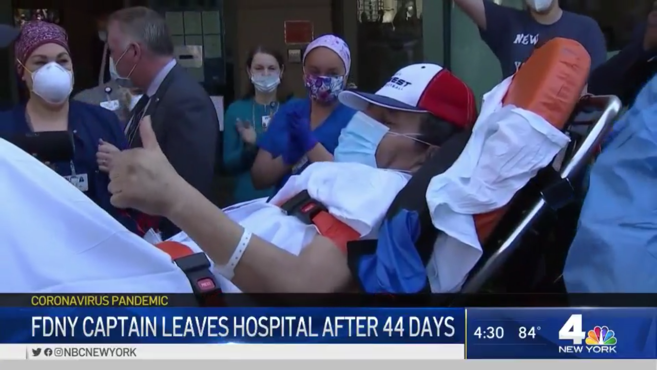 FDNY Captain Leaves Hospital After 44 Days